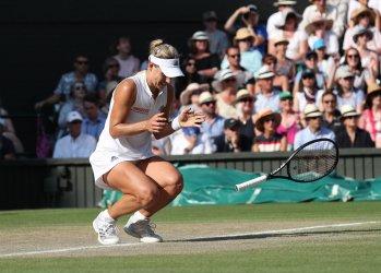 Serena Williams versus Angelique Kerber at Wimbledon Ladies Final.