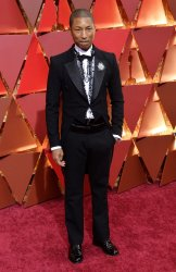 Pharrell Williams arrives for the 89th annual Academy Awards in Hollywood