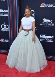 Janet Jackson arrives at the 2018 Billboard Music Awards in Las Vegas, Nevada