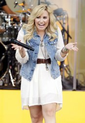 Demi Lovato on the Good Morning America Show in New York
