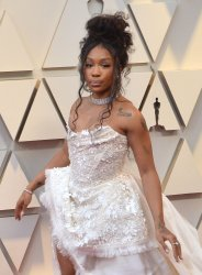 SZA arrives for the 91st Academy Awards