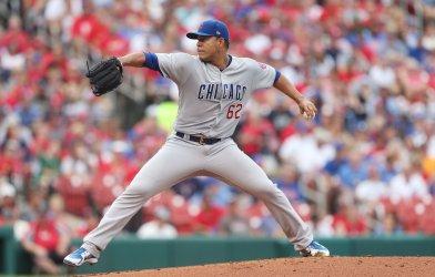 Chicago Cubs starting pitcher Jose Quintana