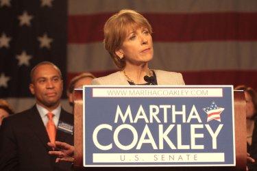 Martha Coakley loses to Scott Brown.