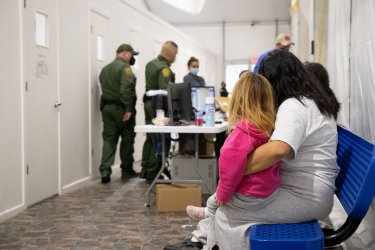 U.S. CPB's Temporary Immigration Processing Facilities in Donna, Texas