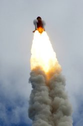"""NASA's Space Shuttle """"Atlantis"""" launches from the Kennedy Space Center"""