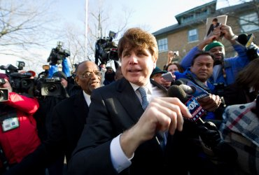 Blagojevich fights through the press after being sentenced to 14 years in prison in Chicago