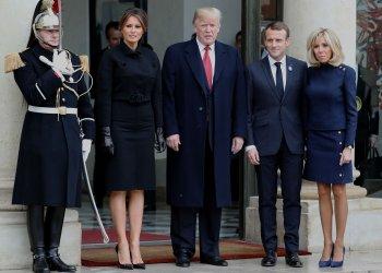 US President Trump visits