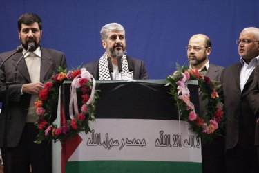 Leader of the Islamic group Hamas Khaled Meshaal in Tehran