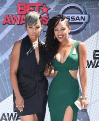 La'Myia Good and Meagan Good attend the BET Awards in Los Angeles
