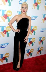 Lady Gaga arrives at Tony Bennett's 90th birthday