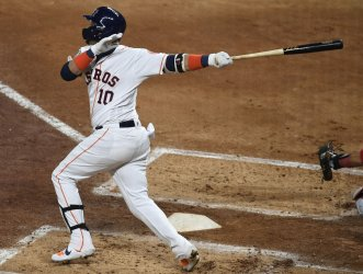 Astros Gurriel hits two-RBI double in the World Series in Houston