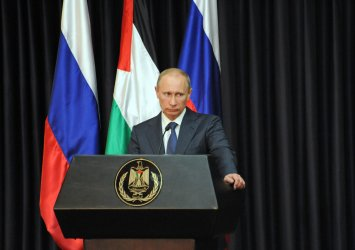 Russian President Vladimir Putin In Bethlehem, West Bank
