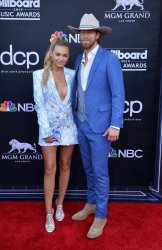 Brian Kelley and Brittney Marie Cole Kelley attend the 2019 Billboard Music Awards in Las Vegas