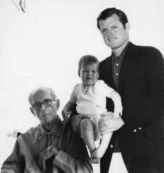 Joseph P. Kennedy, patriarch of the Kennedy family, celebrates his 80th birthday
