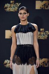 Alexandra Daddario attends the 2017 MTV Movie & TV Awards in Los Angeles