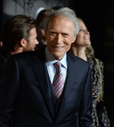 "Clint Eastwood and Christina Sanders attend ""The 15:17 to Paris"" premiere in Burbank, California"