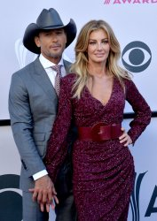 Tim McGraw and Faith Hill attend the 52nd annual Academy of Country Music Awards in Las Vegas