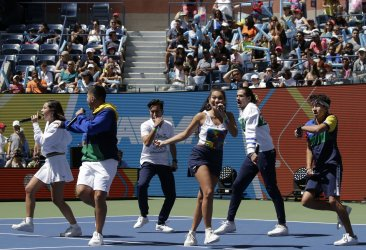 JAGMAC at the 2019 Arthur Ashe Kids day at the US Open