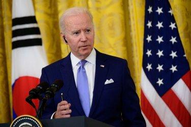 President Joe Biden Meets with South Korean President Moon Jae-in in White House