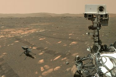 NASA's Perseverance Mars Rover Takes a Selfie with the Ingenuity Helicopter