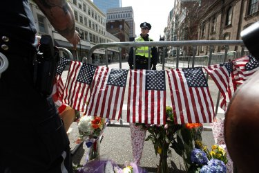 Bomb blasts at Boston Marathon in Boston, MA