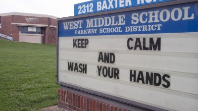 School displays message regarding Coronavirus fears