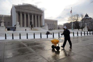 Snow Storm hits Washington, DC