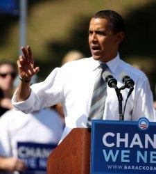 Democratic presidential candidate Obama speaks in Asheville, North Carolina
