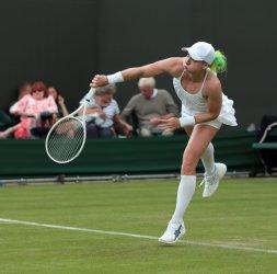 Bethanie Mattek-Sands in action at 2013 Wimbledon Championships
