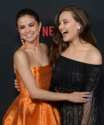 """Selena Gomez and Katherine Langford attend Netfix's """"13 Reasons Why"""" premiere in Los Angeles"""