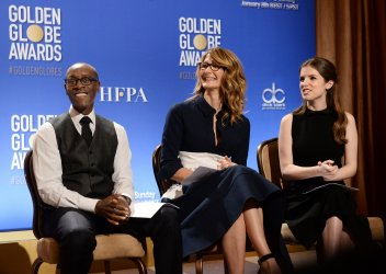 Actors prepare to announce the nominees for the 74th Golden Globe Awards in Beverly Hils