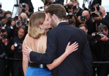 Lea Seydoux and Antoine Reinartz attend the Cannes Film Festival