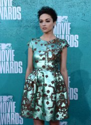 Crystal Reed arrives at the 2012 MTV Movie Awards in Universal City, California