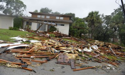 Tornadoes from Hurricane Irma cause damage in Florida.
