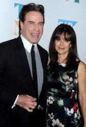 John Travolta and Kelly Preston at Tony Bennett's 90th birthday