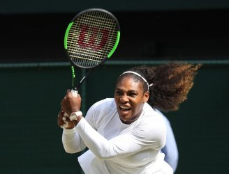 Serena Williams versus Julia Goerges at Wimbledon Women's Semi-Finals