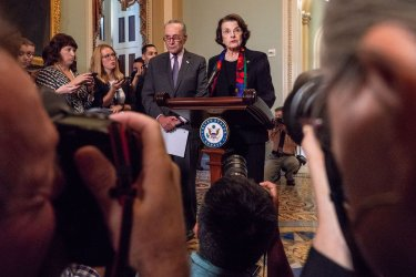 Democratic Leaders speak about FBI report on Cap Hill