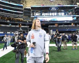 Clemson quarterback Trevor Lawrence enters media day for CFP Cotton Bowl