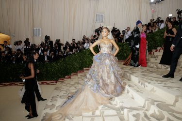 Ariana Grande arrives at the Met Gala in New York
