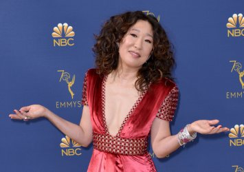 Sandra Oh attends the 70th annual Primetime Emmy Awards in Los Angeles