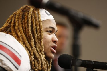 Buckeye's Young speaks after defeating the Wolverines