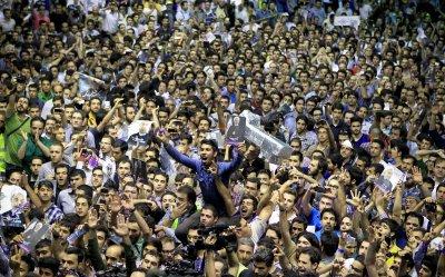 Hasan Rouhani's presidential campaign in Tehran, Iran