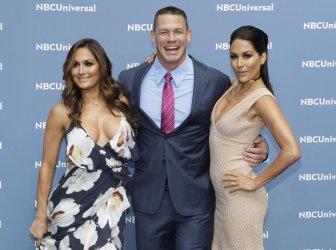 Nikki Bella and John Cena at NBCUNIVERSAL Upfront