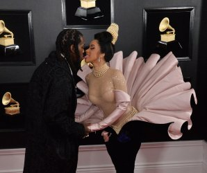 Offset and Cardi B arrive for the 61st Grammy Awards in Los Angeles