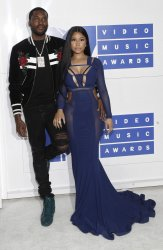 Nicki Minaj and Meek Mill arrive at the 2016 MTV Video Music Awards