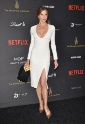 Tiricia Helfer attends the Weinstein Company & Netflix 2016 Golden Globes after party