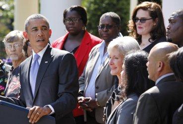 President Barack Obama delivers a statement in the Rose Garden