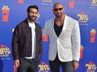 Kumail Nanjiani and Dave Bautista attend the MTV Movie & TV Awards in Santa Monica, California