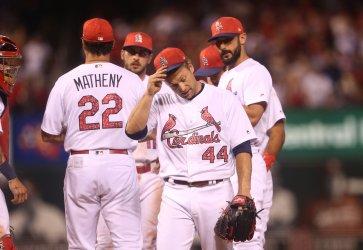 St. Louis Cardinals Trevor Rosenthal leaves game