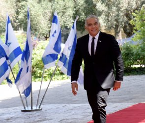 Yair Lapid Arrives At The President's Residence In Jerusalem